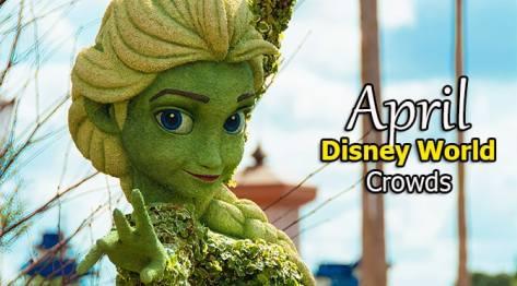 Disney World Crowd Calendar April 2019