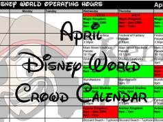 April Disney World Crowd Calendar Park Hours KennythePirate header