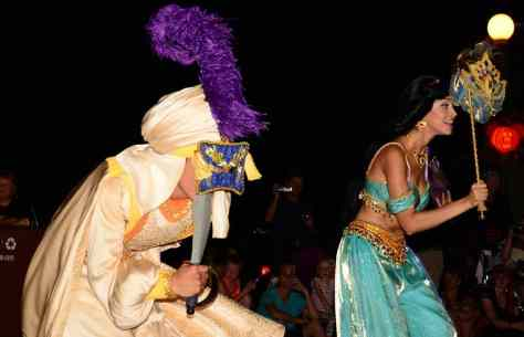Mickey's Not So Scary Halloween Party 2014 Aladdin and Jasmine Boo to You Halloween Parade