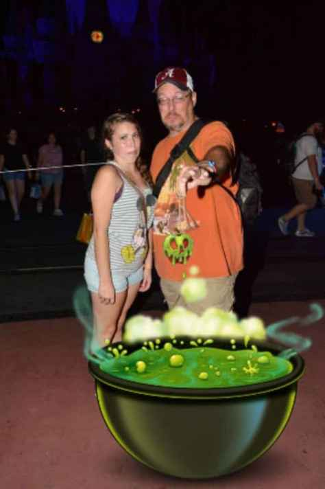 Mickey's Not So Scary Halloween Party Photopass Magic Shot apple