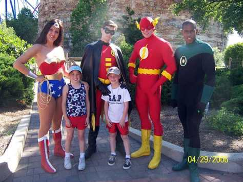 Wonder Woman Robin Flash and Green Lantern Six Flags San Antonio 2006