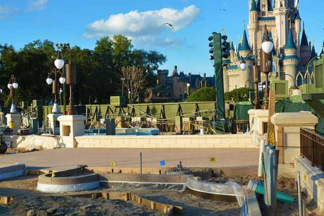 Magic Kingdom hub construction 2015 (4)