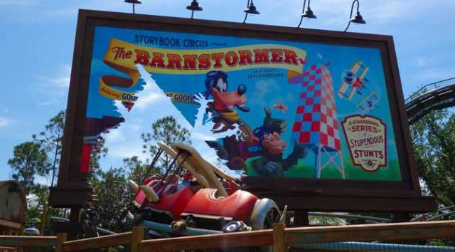barnstormer goofy magic kingdom walt disney world