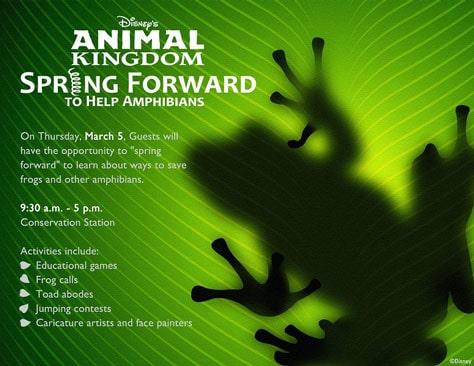 Animal Kingdom Spring Forward to help amphibians day l kennythepirate.com
