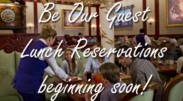 disney world be our guest lunch reservations l kennythepirate.com
