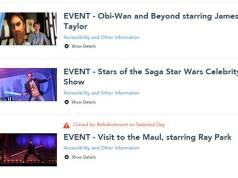 Star Wars Weekends Fastpass+ Shows