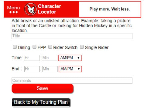 Character Locator App for Disney World now offering Touring Plans 16