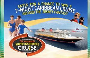 Incredibles Super Incredible Cruise Sweepstakes