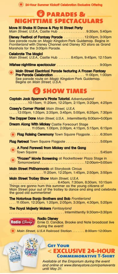 Magic Kingdom 24 hour party coolest summer ever times guide 4