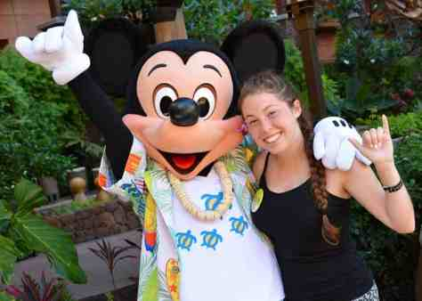 Mickey Mouse at Disney's Aulani Character Breakfast Meal at Makahiki