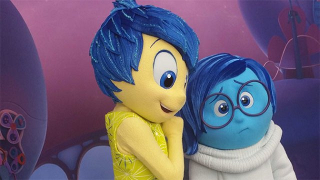 Joy and Sadness from Inside Out Pixar Movie