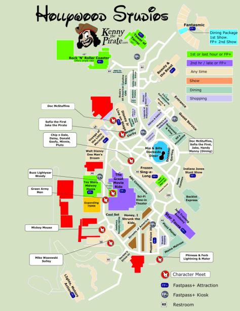 Hollywood Studios Map KennythePirate