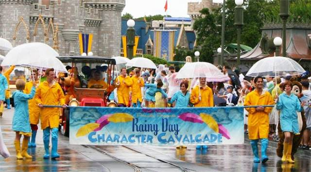 Which attractions are open during a thunderstorm at Disney World