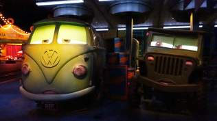 Fillmore and Sarge in Radiator Springs Racers