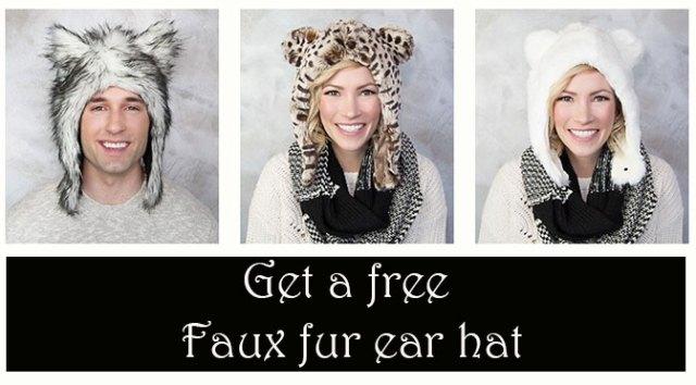 Get a free faux fur ear hat