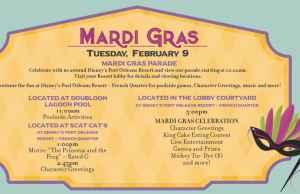 Disney World Resort Valentine's and Mardi Gras Activities