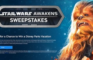 Star Wars Awakens Disney Parks Sweepstakes