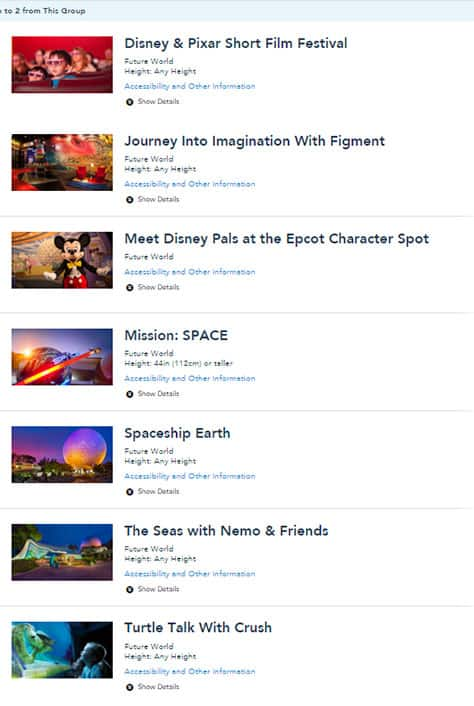 Fastpass changes Epcot 2