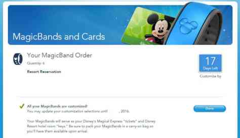 How to customize your MagicBand on My Disney Experience website