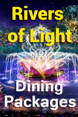 Rivers of Light Dining Packages