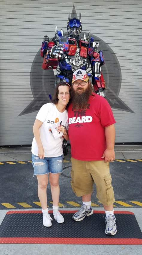 Universal Orlando Character Day with Ryan and Heather April 2016 (36) Optimus Prime