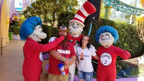 Universal Orlando Character Day with Ryan and Heather April 2016 (53) things and Cat in the Hat