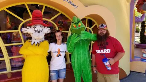 Universal Orlando Character Day with Ryan and Heather April 2016 (55) Sam I Am and Grinch