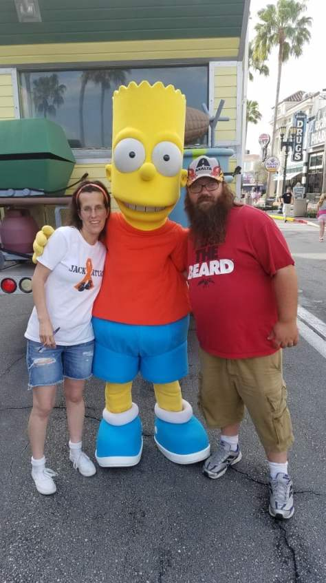 Universal Orlando Character Day with Ryan and Heather April 2016 (6) Bart Simpson