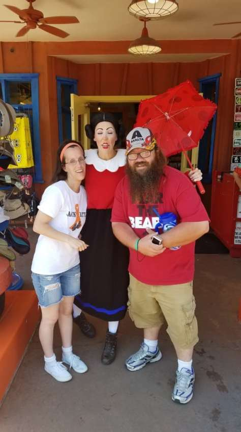 Universal Orlando Character Day with Ryan and Heather April 2016 (60) Olive Oyl