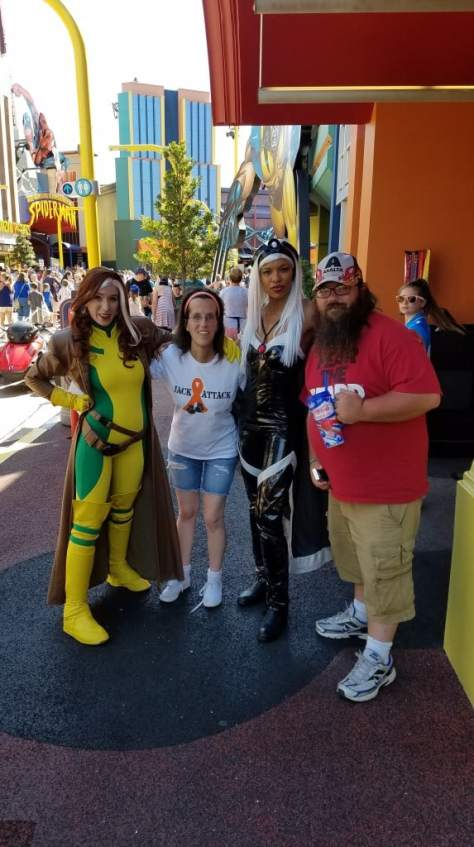 Universal Orlando Character Day with Ryan and Heather April 2016 (72) Rogue and Storm