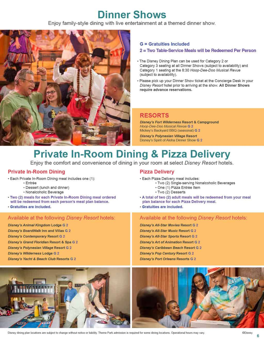 2017 Disney Dining Plan Quick Service Dining Plan And