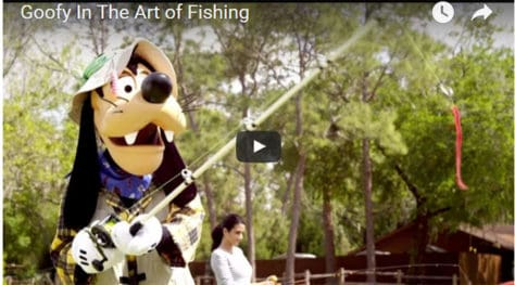 Goofy in the Art of Fishing live action video