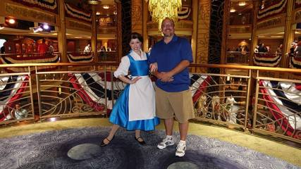 Belle in Blue Smock onboard Disney Fantasy KennythePirate