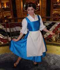 Belle in Blue Smock onboard Disney Fantasy