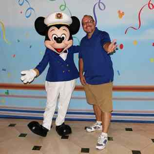 Captain Mickey Mouse onboard Disney Fantasy KennythePirate