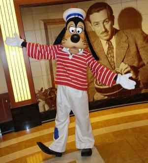 Goofy as Sailor onboard Disney Fantasy