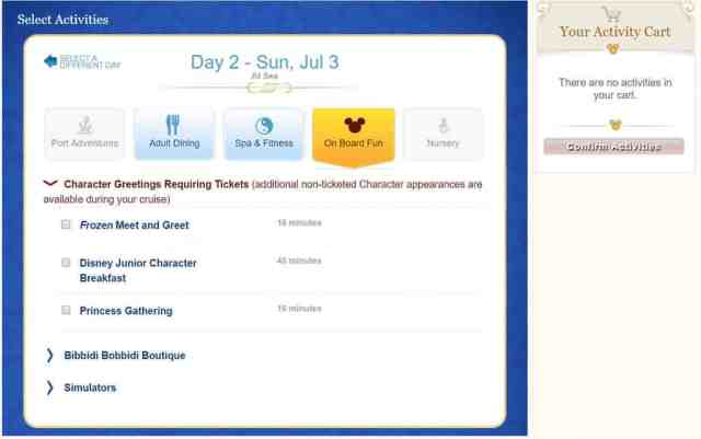 How to book special meet and greets on a Disney Cruise (3)