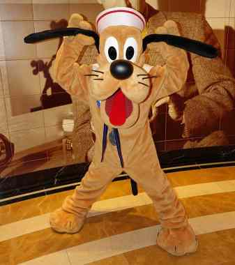 Pluto as Sailor onboard Disney Fantasy