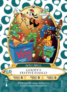 Goofy Sorcerers of the Magic Kingdom card for Mickey's Very Merry Christmas Party