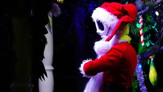 Jack Skellington as Sandy Claws Mickey's Very Merry Christmas Party 2016
