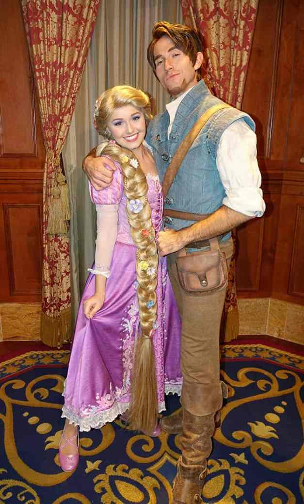 Rapunzel and Flynn Rider at Mickey's Very Merry Christmas Party 2016