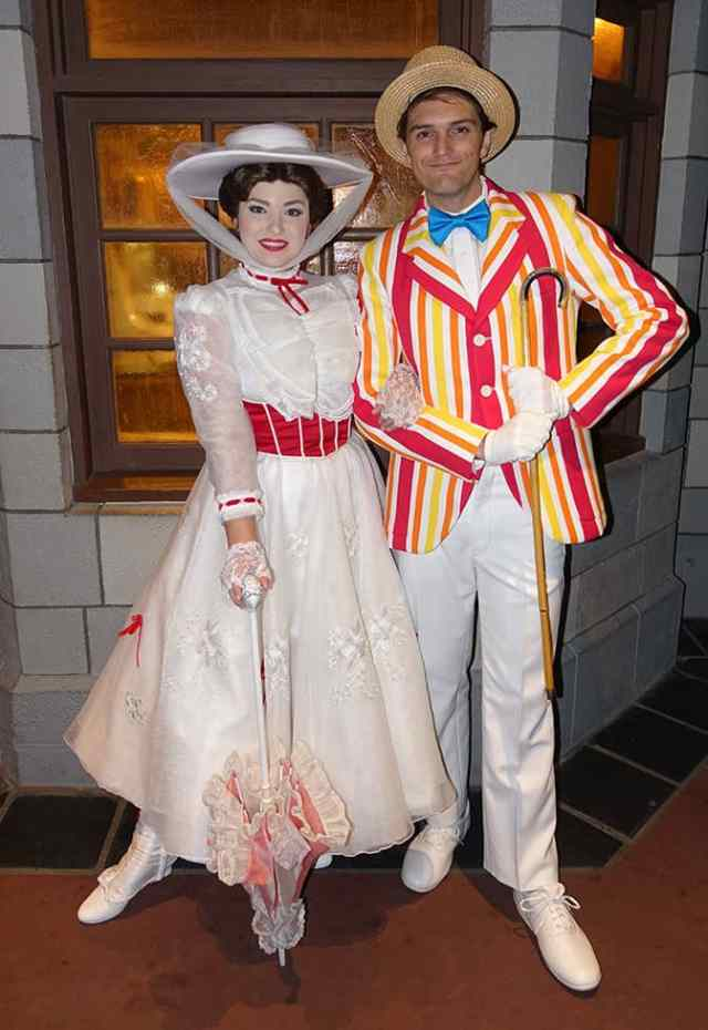 Mary Poppins and Bert at Mickey's Very Merry Christmas Party 2016