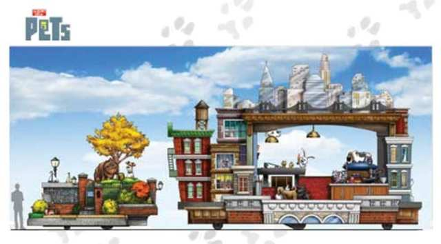 The Secret Life Of Pets Becomes a Float in Universal's Superstar Parade and meet and greet