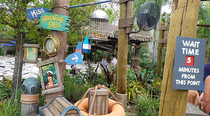 Miss Adventure Falls at Typhoon Lagoon review with photos and video