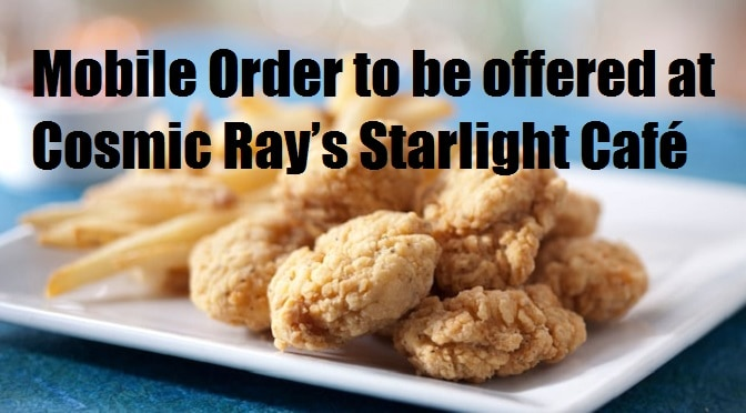 Mobile Order to be offered at Cosmic Ray's Starlight Café
