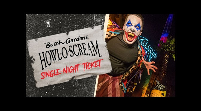 Get Busch Gardens Howl-O-Scream tickets for only $29.99 if purchased this week!