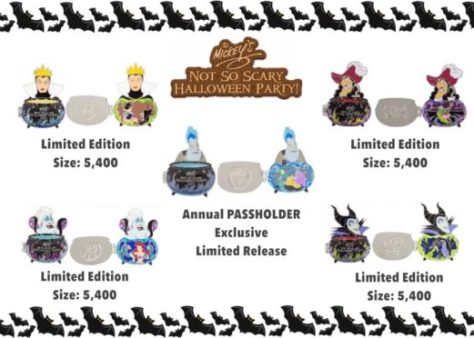 First Look at Mickey's Not So Scary Halloween Party Trading Pins