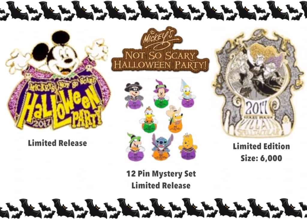 First Look at 2017 Mickey's Not So Scary Halloween Party Trading Pins