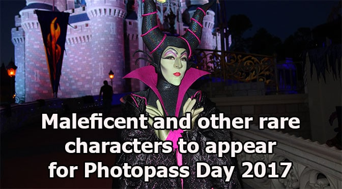 Maleficent and other rare characters to meet for photopass day 2017 m4hsunfo