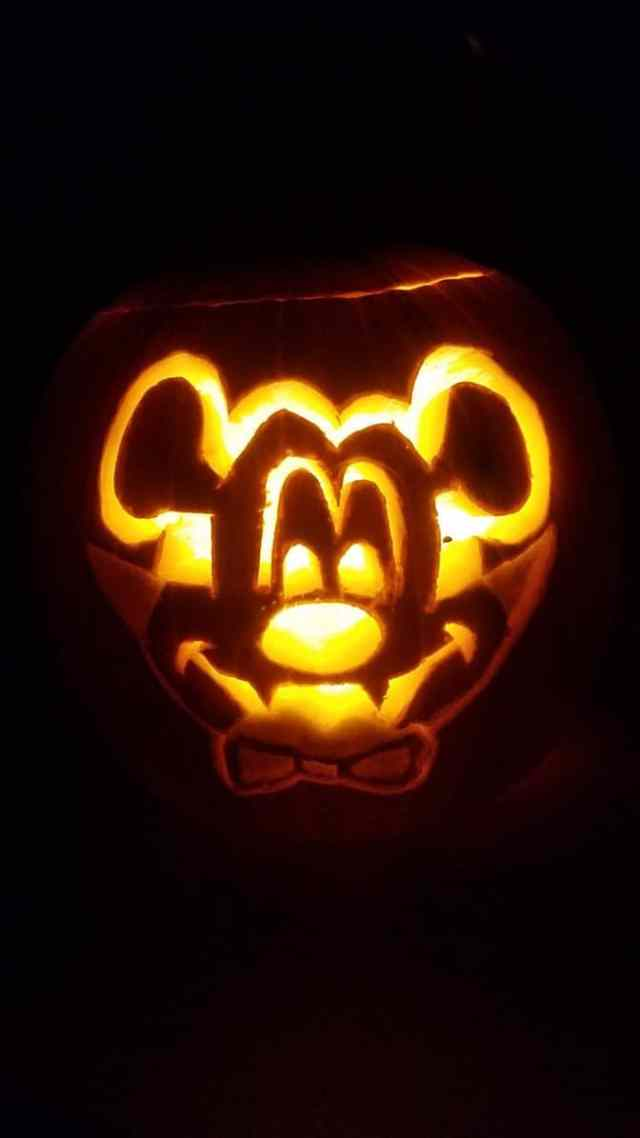 Vampire Mickey Halloween Pumpkin